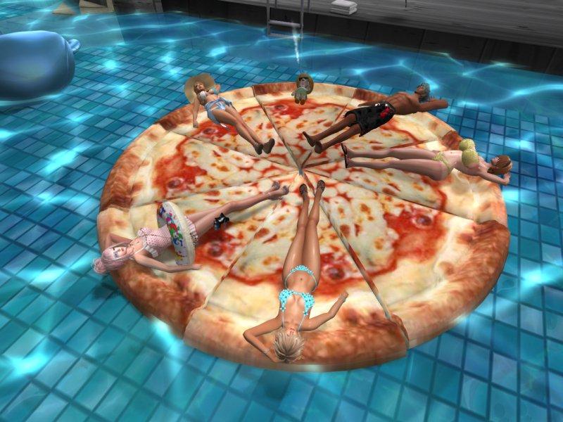 Pizza型フロート