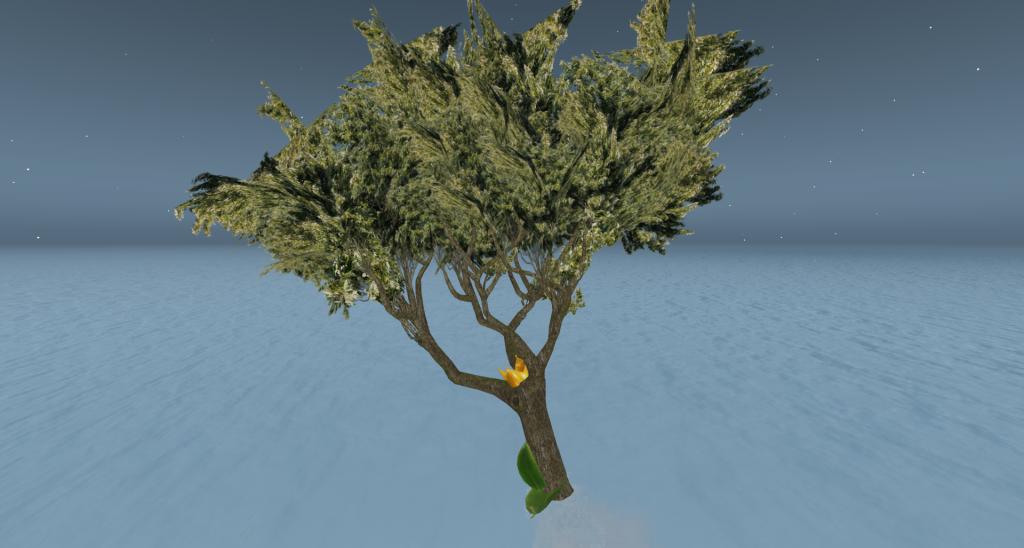 笹舟に乗る樹